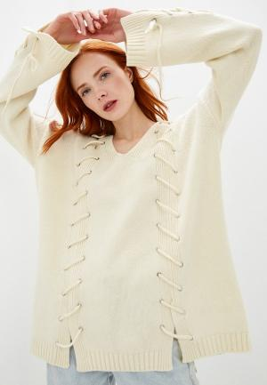 Пуловер McQ Alexander McQueen. Цвет: бежевый