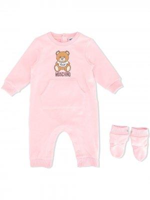 Комплект для новорожденного Teddy с логотипом Moschino Kids. Цвет: розовый