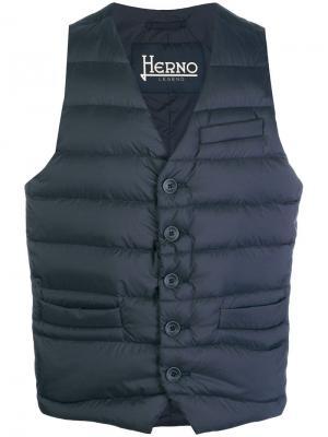 Padded waistcoat Herno. Цвет: синий