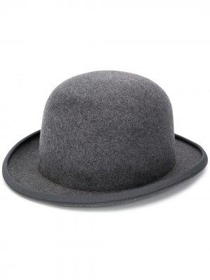 Шляпа-котелок AMI Paris. Цвет: серый