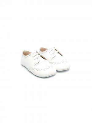 Пинетки на шнуровке La Stupenderia. Цвет: белый