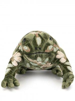 Мягкая игрушка в виде лягушки с вышивкой Anke Drechsel. Цвет: зеленый