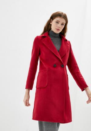 Пальто B.Style. Цвет: красный