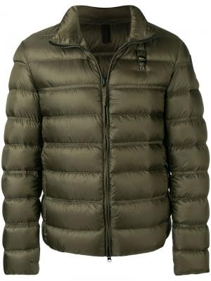 Short padded jacket Blauer. Цвет: зеленый