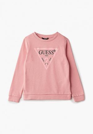 Свитшот Guess. Цвет: розовый