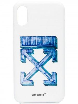 Чехол для iPhone XS с логотипом Arrows Off-White. Цвет: белый