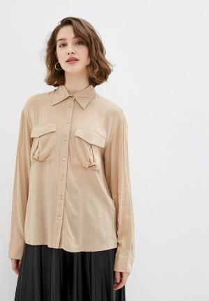 Рубашка OVS. Цвет: бежевый