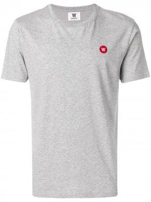 Embroidered logo T-shirt Wood. Цвет: серый