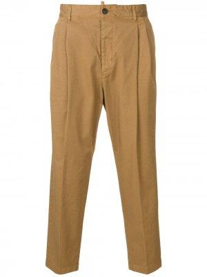 Укороченные брюки чинос Dsquared2. Цвет: коричневый