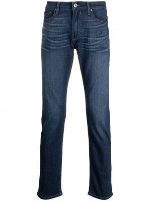 Узкие джинсы PAIGE. Цвет: синий