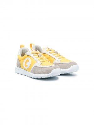 Кроссовки с логотипом Camper Kids. Цвет: желтый