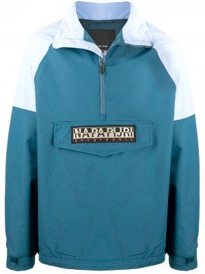 Куртка Astros в стиле колор-блок Napapijri. Цвет: синий