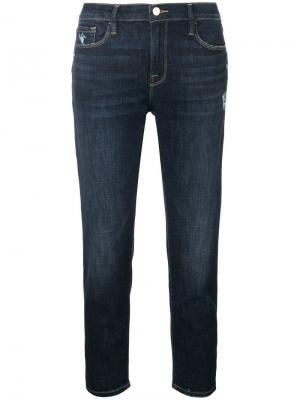 Le Garcon Crop jeans FRAME. Цвет: синий