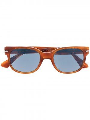 Солнцезащитные очки трапециевидной формы Persol. Цвет: оранжевый