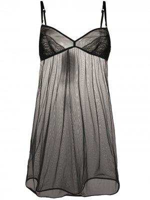 Полупрозрачная ночная сорочка Dolce & Gabbana. Цвет: черный