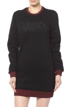 Платье ZOE KARSSEN. Цвет: черный