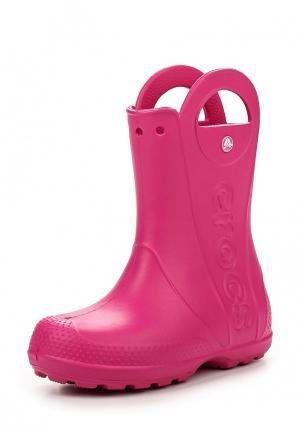 Резиновые сапоги Crocs. Цвет: розовый