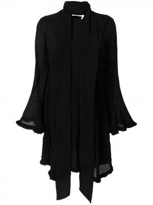 Crepe tie waist handkerchief dress Chloé. Цвет: черный