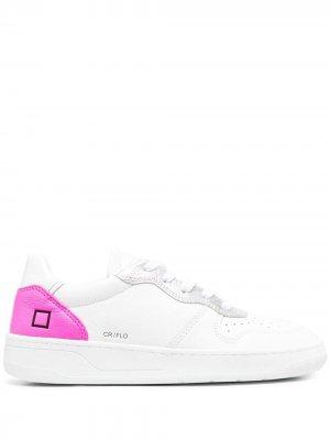 Кеды на шнуровке D.A.T.E.. Цвет: белый
