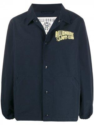 Бомбер с логотипом Billionaire Boys Club. Цвет: синий