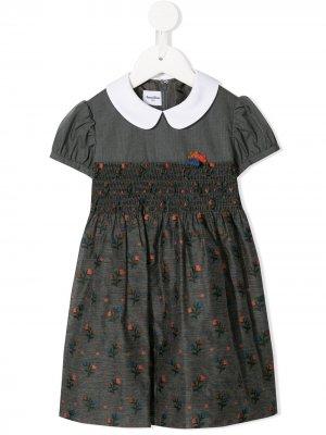 Платье с цветочным принтом Familiar. Цвет: серый