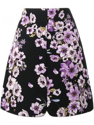 А-образная юбка с цветами Giambattista Valli. Цвет: черный
