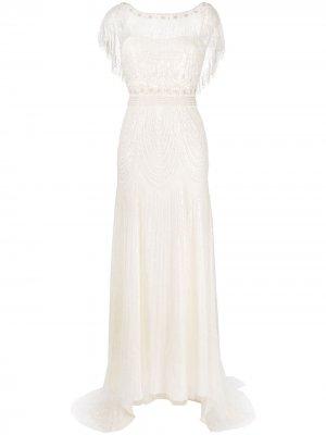 Декорированное свадебное платье Dolly Jenny Packham. Цвет: нейтральные цвета