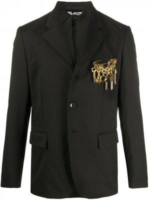 Декорированный блейзер Comme Des Garçons Homme Plus. Цвет: черный
