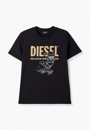Футболка Diesel. Цвет: черный
