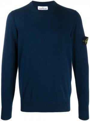 Пуловер с логотипом Stone Island. Цвет: синий