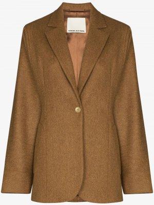 Пиджак оверсайз SAMUEL GUÌ YANG. Цвет: коричневый