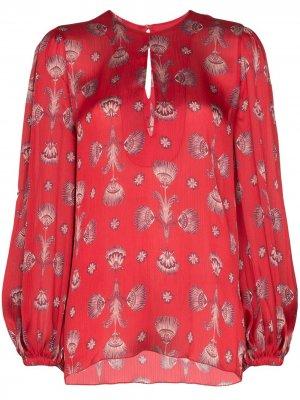 Блузка с принтом Johanna Ortiz. Цвет: красный