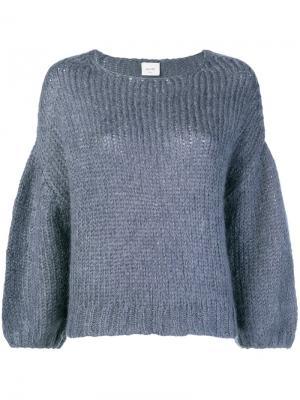 Balloon sleeve sweater Alysi. Цвет: синий