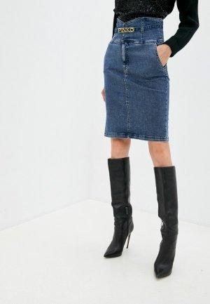 Юбка джинсовая Pinko. Цвет: синий