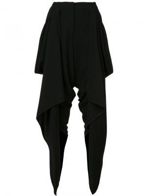 Укороченные брюки с драпировкой Gareth Pugh. Цвет: чёрный