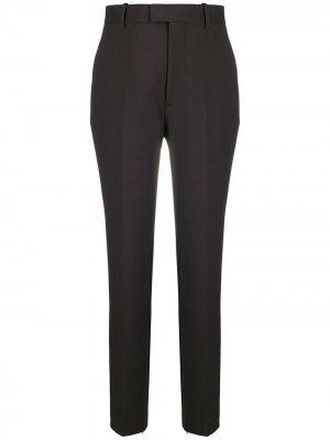 Зауженные брюки с завышенной талией Bottega Veneta. Цвет: коричневый