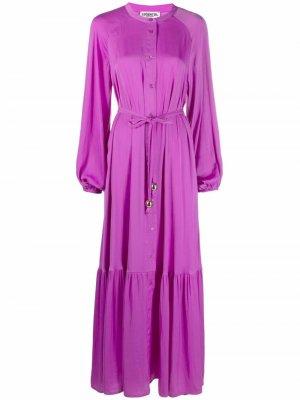 Платье миди с завязками Essentiel Antwerp. Цвет: фиолетовый