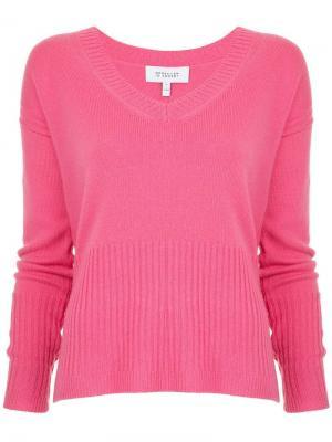 Пуловер в рубчик с V-образным вырезом Derek Lam 10 Crosby. Цвет: розовый