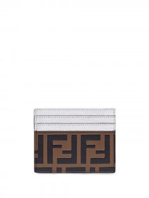 Картхолдер с тисненым логотипом FF Fendi. Цвет: коричневый