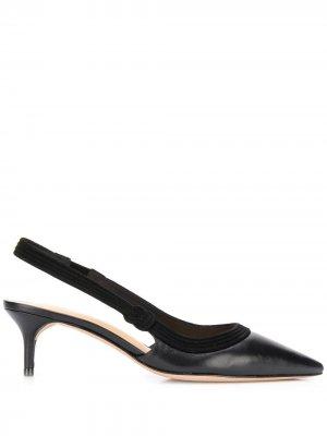 Туфли на шпильке с ремешком пятке Alexandre Birman. Цвет: черный