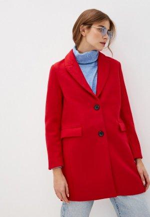 Пальто Zolla. Цвет: красный