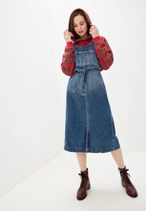 Сарафан Pepe Jeans. Цвет: синий