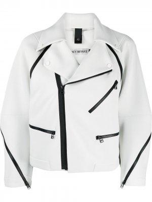 Байкерская куртка Issey Miyake. Цвет: серый
