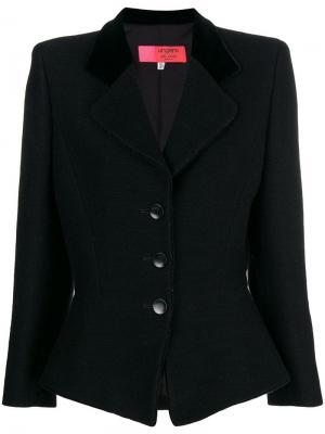Облегающий пиджак Emanuel Ungaro Pre-Owned. Цвет: черный