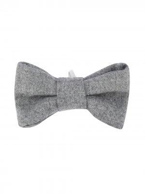 Однотонный галстук-бабочка Il Gufo. Цвет: серый