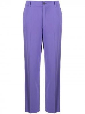 Прямые брюки с завышенной талией Forte. Цвет: фиолетовый