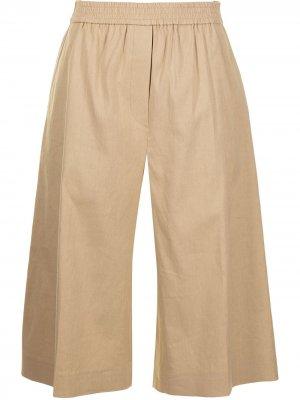 Укороченные брюки Joseph. Цвет: коричневый
