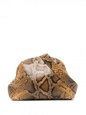Поясная сумка с тиснением под змеиную кожу Officine Creative. Цвет: нейтральные цвета