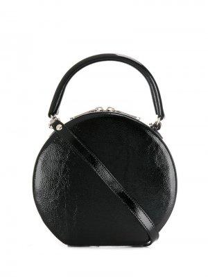 Круглая сумка-тоут Rebecca Minkoff. Цвет: черный