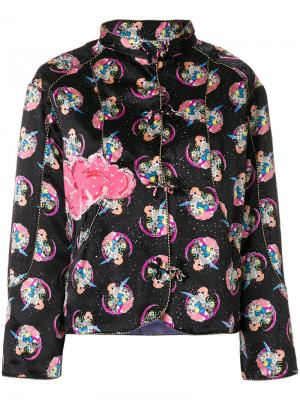 Приталенный пиджак с принтом Cosmo Girl Tsumori Chisato. Цвет: черный